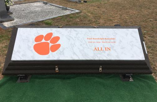 Clemson Tiger Paw Life's Reflections with Name and Dates