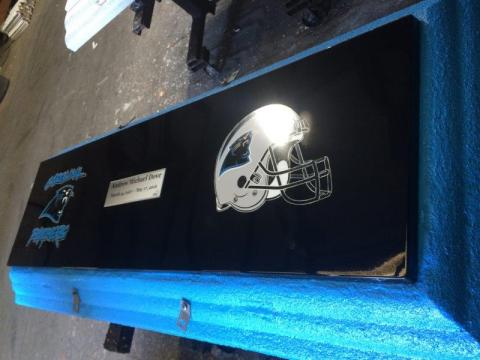 Carolina Panthers Life's Reflections with Name and Dates
