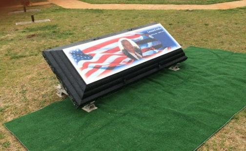 American Flag Legacy with Custom Photo, Name, and Dates