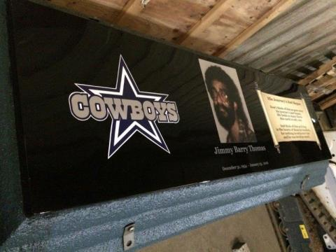 Dallas Cowboys and Poem Life's Reflections with Custom Photo, Name and Dates