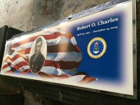 American Flag Legacy with Custom Photo, Name, Dates, and US Airforce Life's Reflections