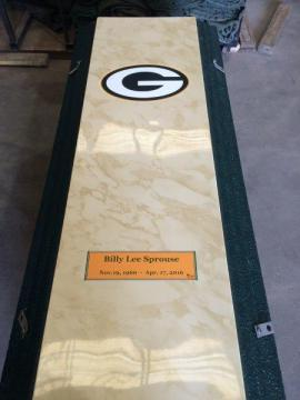Greenbay Packers Life's Reflections with Name and Dates